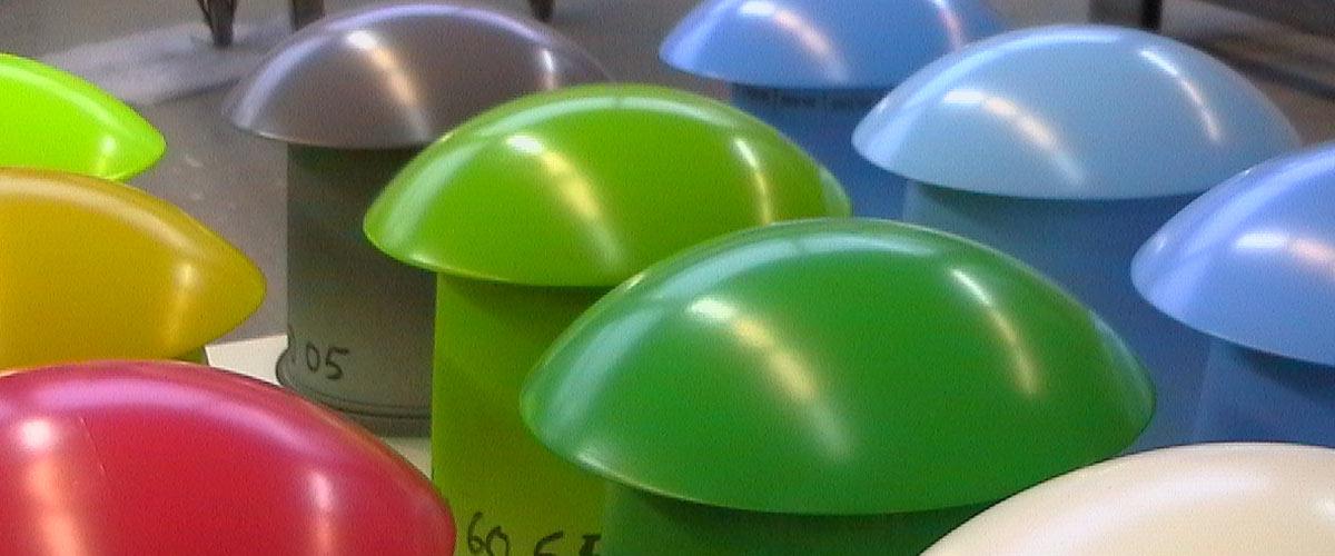 Kunststofflackierung Pilze